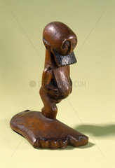 Carved wooden effigy  Congo  1880-1910.