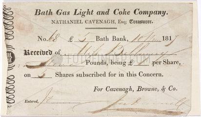 Company shares reciept  1817.