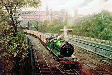 'Liddesdale' 4-4-2 steam locomotive no 9877  c 1912.