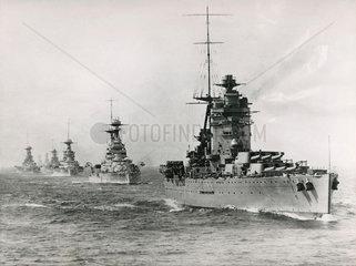 Atlantic fleet led by HMS 'Rodney'  1925.