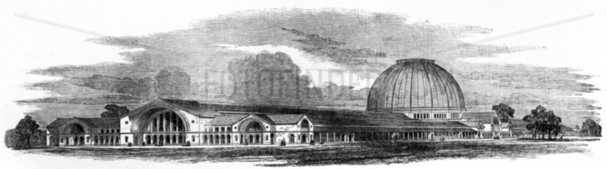 Isambard Kingdom Brunel's design for the 'Crystal Palace'  1850.
