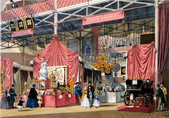 North German stand at the Great Exhibition  Crystal Palace  London  1851.