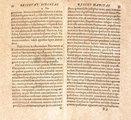 Galileo's drawings of Jupiter's satellites  1610.
