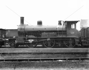 Great Eastern Railway (GER) 2-6-0 steam locomotive No 530  c 1882.