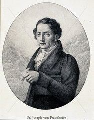 Joseph von Fraunhofer  German physicist  c 1820s.