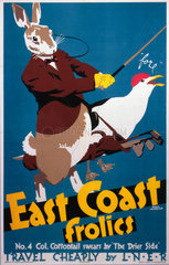 'East Coast Frolics  No 4'  LNER poster  1933.
