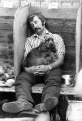 Resting at the Blackpool Dog Show  June 1976.