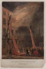 'The Royal Society's Fire Escape'  19th century.