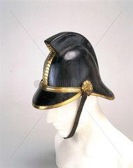 Firefighting helmet  c 1880-1920.