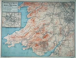 Map of the London Midland & Scottish Railway  c 1930.