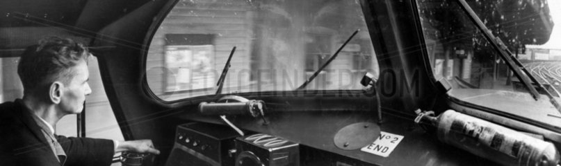 View from the cab of the 'Flying Scotsman'  June 1965.