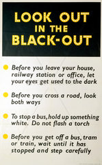 'Look Out in the Black-Out'  poster  1939-1945.