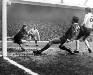 Bob Wilson lets in a goal from John Toshack  30 January 1971.