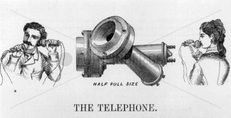 Advertisement for the telephone  1877.