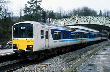 Sprinter train in a station  c 1980s.