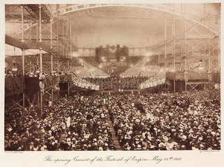 Festival of Empire opening concert  Crystal Palace  Sydenham  12 May 1911.
