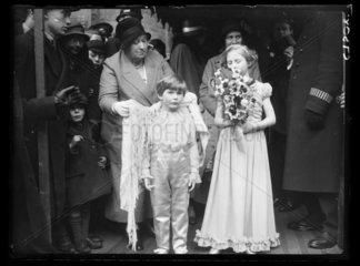 Pageboy and bridesmaid  1934.