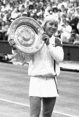 Martina Navratilova  Czech/American tennis player  c 1987.