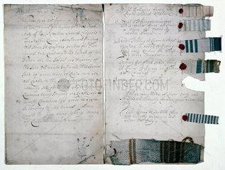 Specimens of linen  1783.