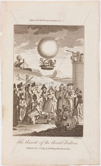 'The Ascent of the Aerial Balloon'  19 September 1783.