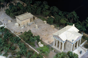 Model of the Asklepeion at Epidauras  Greece  1936.