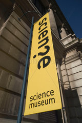 Banner outside the Science Museum  London  2007.