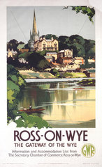 'Ross-on-Wye'  GWR poster  1938.