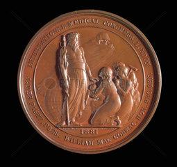 International Medical Congress medal  London  1881.