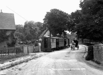 Wantage Tramway Company steam tram engine No 4  c 1905.