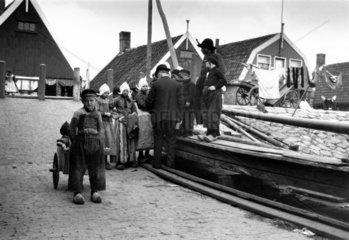 Dutch children in Marken  Holland  c 1930s.