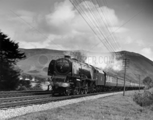 Coronation Class steam locomotive  Scotland  c 1950s.