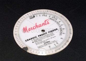 Merchant's Graphic Profit Finder  1950-1970.