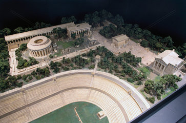 Model of the Asklepeion at Epidauras  Greece  1936.