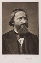 Gustav Robert Kirchhoff  German physicist  c 1870s.