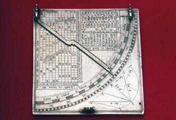 Quadrant sundial  English  c 1570.