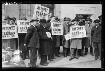 Anti-semitism protest  1933.