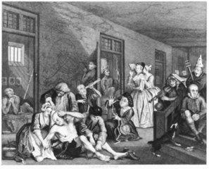 'Scene in Bedlam'  1735.