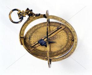 Brass armillary astrolabe  1661.