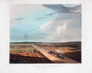 'View of the Railway across Chat Moss'  near Manchester'  1831.