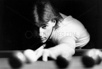 Kirk Stevens  Canadian snooker player  September 1985.
