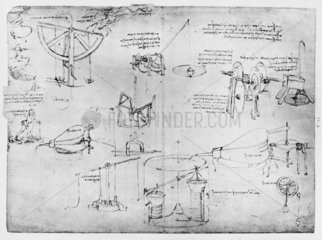 Sketch taken from a notebook by Leonardo da Vinci  15th century.