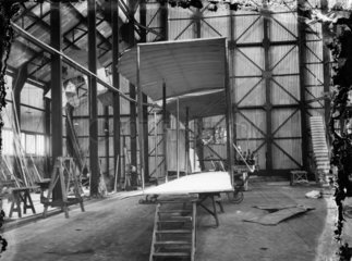 Cody Aeroplane No1  Antoinette engine being fitted  1908.