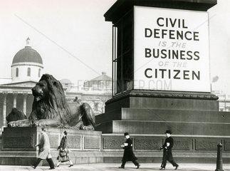 National Service recruitment campaign poster  Trafalgar Square  30 March 1930.