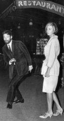 Peter O'Toole and Barbara Steele  Rome  1964.