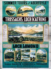 'Summer Tours...'  NBR poster  1900-1923.