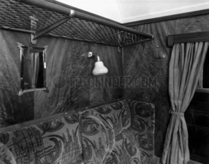 Interior of coach compartment  22 January 1936.