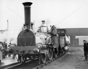 Restored steam locomotive  January 1951. Th