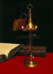 Dutch 3-nozzle Oil Lamp  1800-1820.