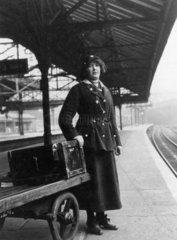 Female porter on the Lancashire and Yorkshi
