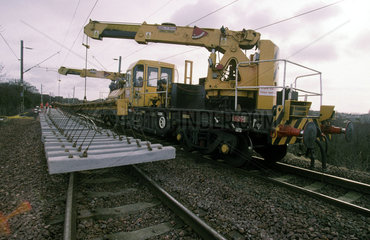 Tracklaying at Motherwell  1999.